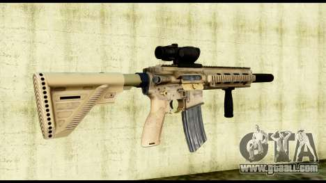 HK416 SOPMOD for GTA San Andreas second screenshot