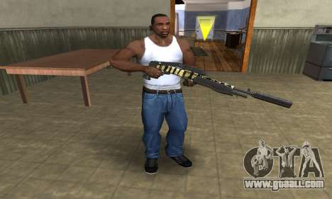 Gold Lines Combat Shotgun for GTA San Andreas third screenshot