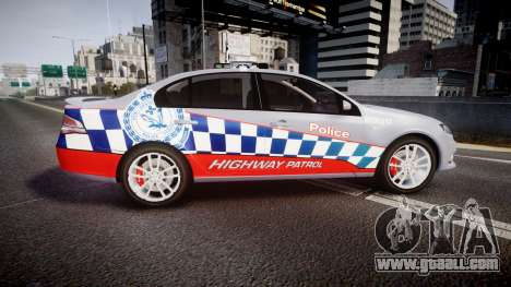 Ford Falcon FG XR6 Turbo Highway Patrol [ELS] for GTA 4 left view