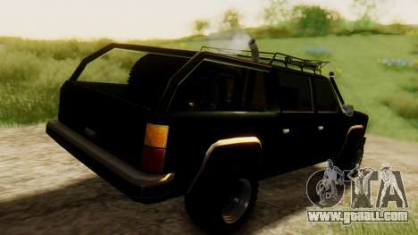 FBI Rancher Offroad for GTA San Andreas back left view