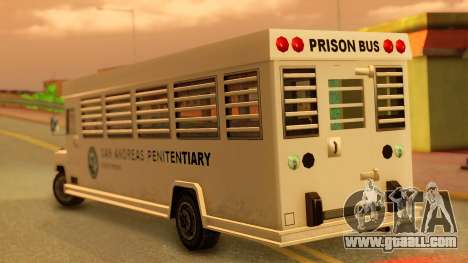 Prison Bus for GTA San Andreas left view