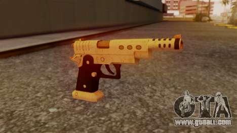 Chrome Hammer Pistol for GTA San Andreas