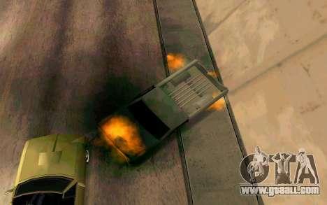 Burning car mod from GTA 4 for GTA San Andreas sixth screenshot