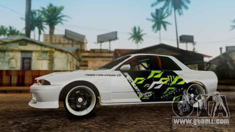 Nissan Skyline R32 Speedhunters for GTA San Andreas right view