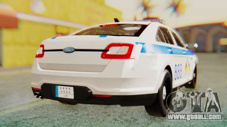 Ford Taurus Iraq Police v2 for GTA San Andreas back left view