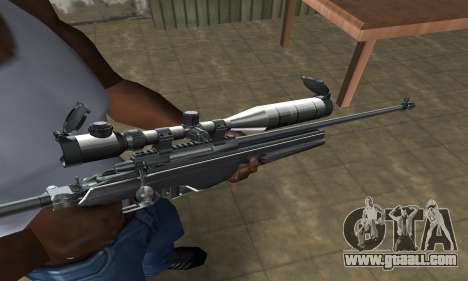 Full Silver Sniper Rifle for GTA San Andreas second screenshot