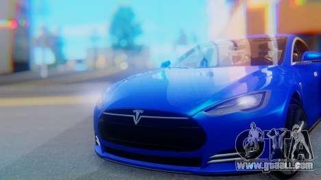 Tesla Model S for GTA San Andreas back view