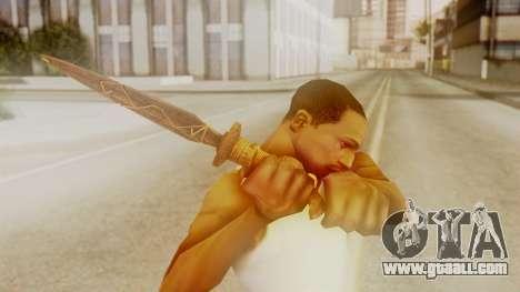 Ceremonial Dagger for GTA San Andreas third screenshot