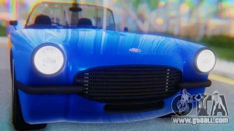 Invetero Coquette BlackFin v2 SA Plate for GTA San Andreas back view