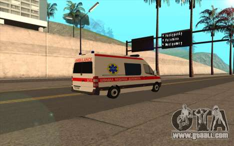Mercedes-Benz Sprinter Ambulance Ukraine for GTA San Andreas back left view