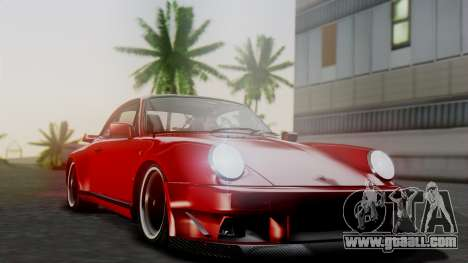 Porsche 911 Turbo (930) 1985 Kit A for GTA San Andreas bottom view