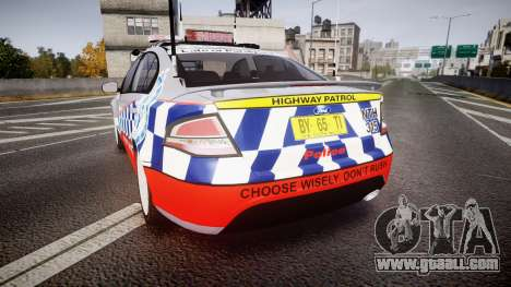 Ford Falcon FG XR6 Turbo Highway Patrol [ELS] for GTA 4 back left view
