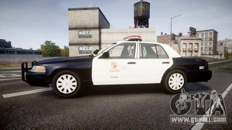 Ford Crown Victoria 2011 LAPD [ELS] rims1 for GTA 4 left view