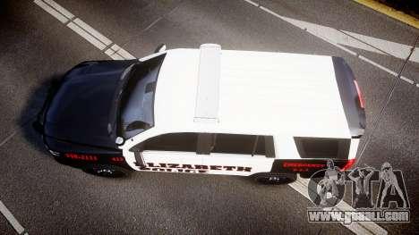 Chevrolet Tahoe 2015 Elizabeth Police [ELS] for GTA 4 right view