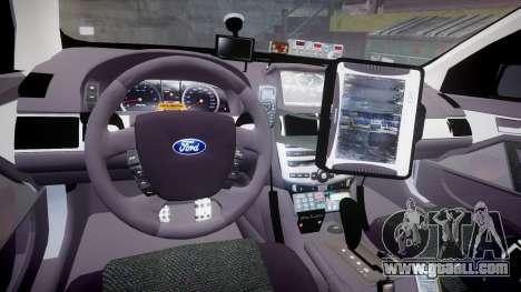 Ford Falcon FG XR6 Turbo Highway Patrol [ELS] for GTA 4 back view