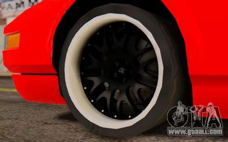 Infernus Hamann Edition New Wheels for GTA San Andreas back left view