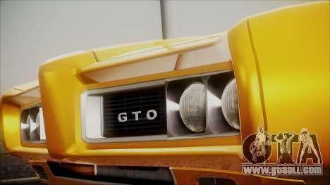 Pontiac GTO 1968 for GTA San Andreas right view