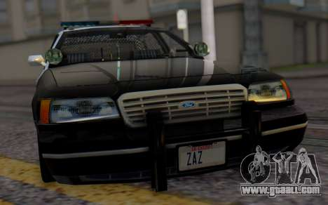 Ford Crown Victoria LSPD for GTA San Andreas back view