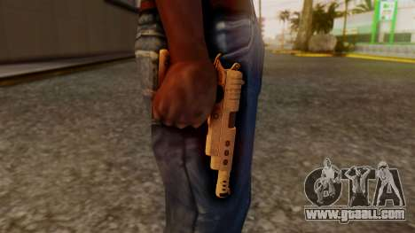 Chrome Hammer Pistol for GTA San Andreas third screenshot