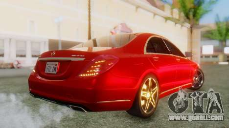 Mercedes-Benz S63 W222 AMG for GTA San Andreas left view