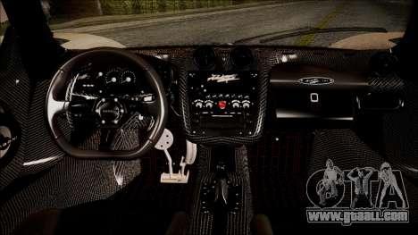 Pagani Zonda Cinque 2009 Autovista for GTA San Andreas right view