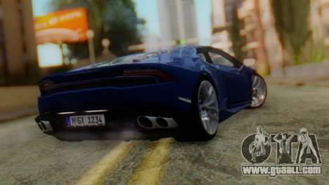 Lamborghini Huracan 2015 for GTA San Andreas left view