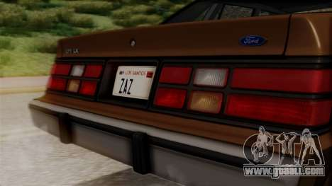 Ford LTD LX 1986 for GTA San Andreas back view