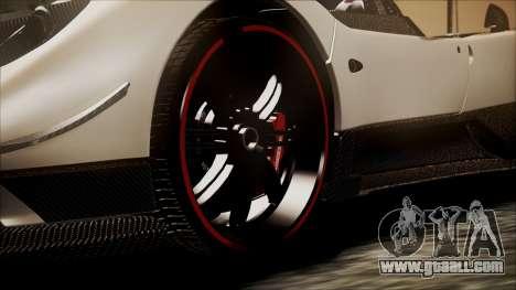 Pagani Zonda Cinque 2009 Autovista for GTA San Andreas back left view