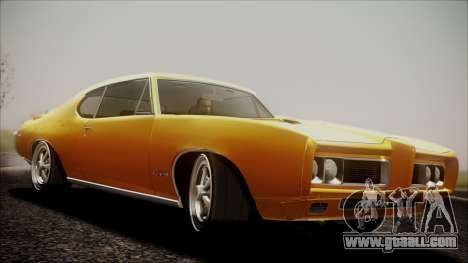 Pontiac GTO 1968 for GTA San Andreas back left view