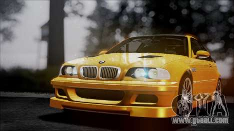 BMW M3 GTR Street Edition for GTA San Andreas interior