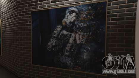 GTA 5 Star Wars Posters for Franklins House 0.5 fifth screenshot
