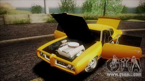 Pontiac GTO 1968 for GTA San Andreas inner view