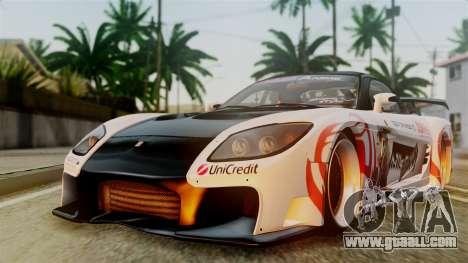 Mazda RX-7 Veilside Mugi Itasha for GTA San Andreas back left view