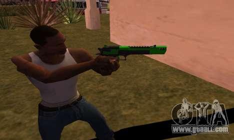 Deagle Green Style for GTA San Andreas