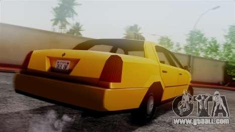 Washington Taxi for GTA San Andreas left view