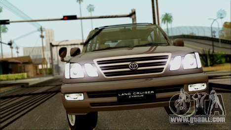 Toyota Land Cruiser Cygnus for GTA San Andreas back view
