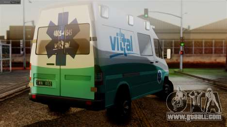 Mercedes-Benz Sprinter Ambulance Vittal for GTA San Andreas left view