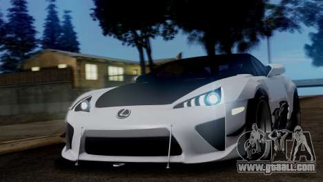 Lexus LFA for GTA San Andreas