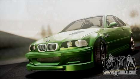 BMW M3 GTR Street Edition for GTA San Andreas upper view