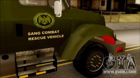 SANG Combat Rescue International for GTA San Andreas right view