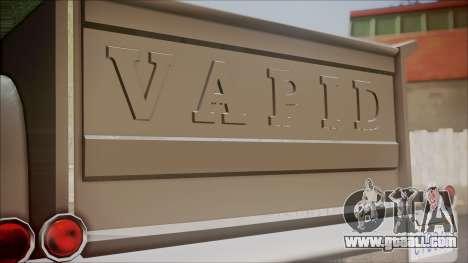 GTA 5 Vapid Slamvan Pickup for GTA San Andreas back view