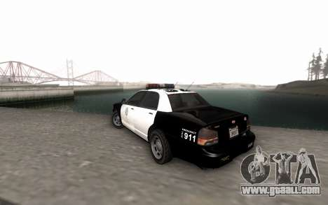 GTA 5 Stanier Police for GTA San Andreas left view