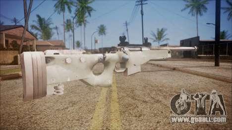 L96 from Battlefield Hardline for GTA San Andreas second screenshot