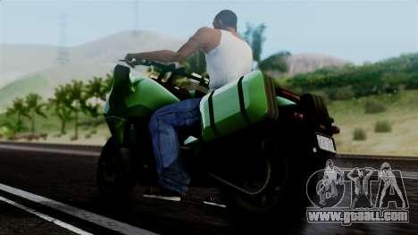 Dinka Vindicator GTA 5 Plate for GTA San Andreas back left view
