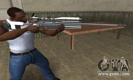 Full Silver Sniper Rifle for GTA San Andreas
