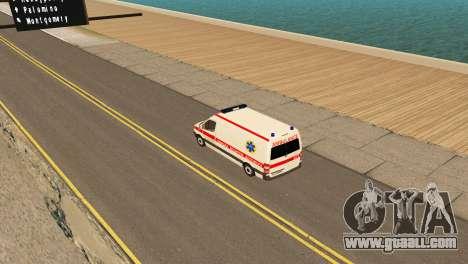 Mercedes-Benz Sprinter Ambulance Ukraine for GTA San Andreas right view