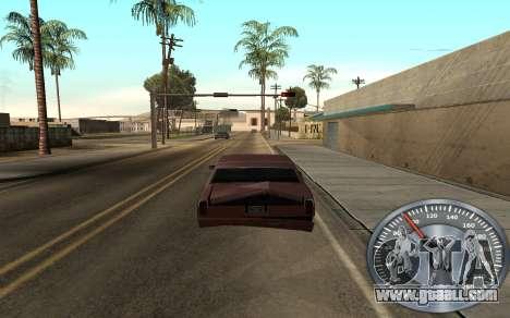 Iron speedometer for GTA San Andreas