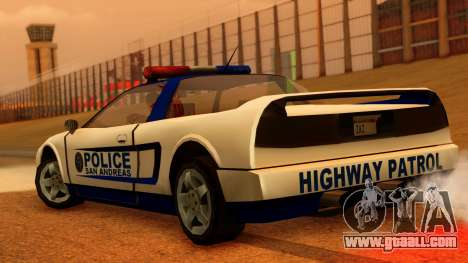 Police Infernus for GTA San Andreas left view