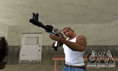 Cool Black AK-47 for GTA San Andreas second screenshot