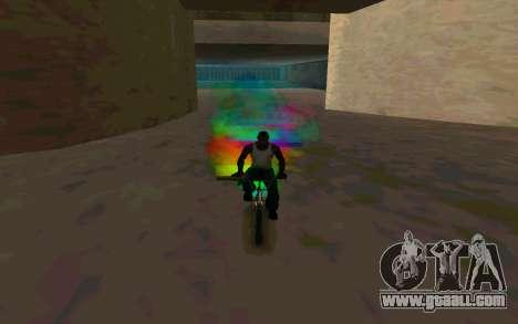 Bike Smoke for GTA San Andreas forth screenshot